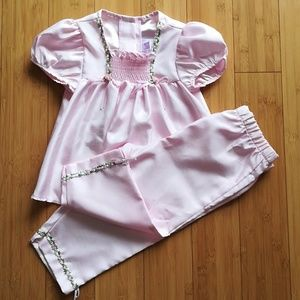 4T Smocked Outfit Top + Pants